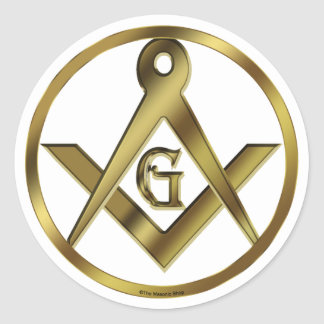 Circle of Masons Round Sticker