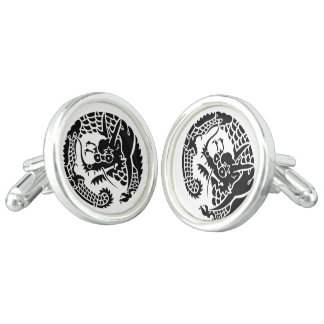 Circle of Nichiren sect dragon Cuff Links
