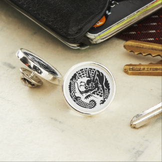 Circle of Nichiren sect dragon Lapel Pin