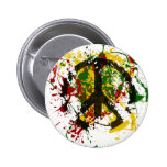 Circle of Peace Paint Pinback Buttons