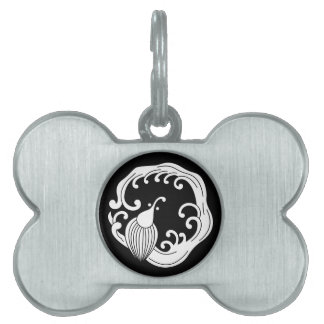 Circle of rainy dragon pet tag