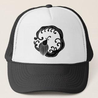 Circle of rainy dragon trucker hat