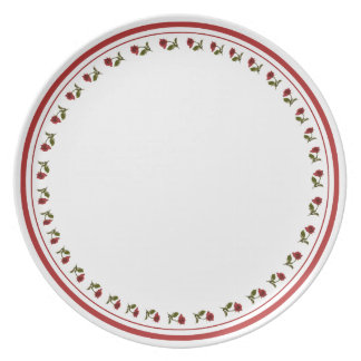 Circle of red Roses - Floral Photography Cut Out Plate