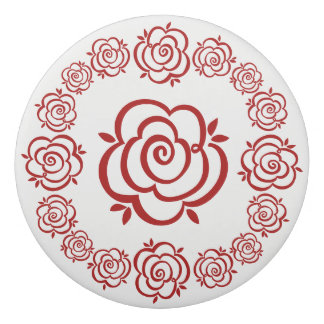 Circle of Roses – Red Rose Outlines Eraser