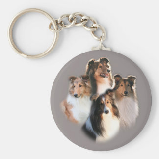 Circle of Shelties Keychain