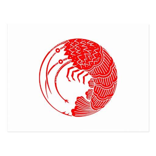 Circle of shrimp post cards