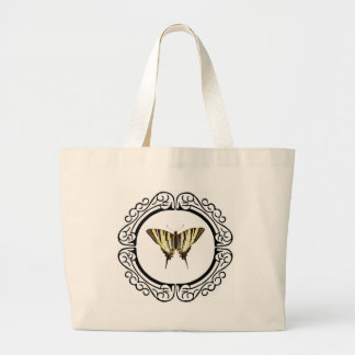 circle of the butterfly large tote bag