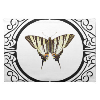 circle of the butterfly placemat