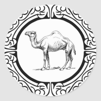 circle of the camel classic round sticker