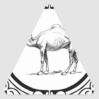 circle of the camel triangle sticker