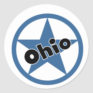 Circle Ohio Classic Round Sticker