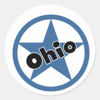Circle Ohio Round Sticker