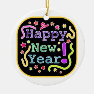 Circle Ornament  Happy new year
