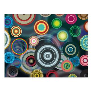 Circle Pattern Postcard