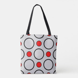 Circle pattern tote bag