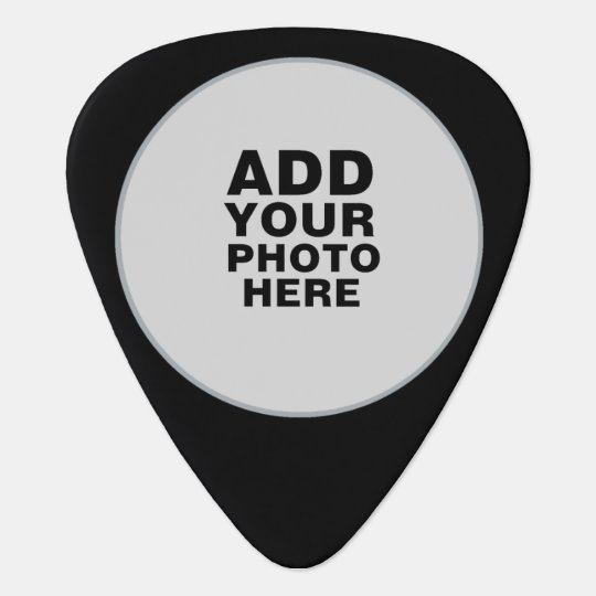 circle photo black guitar pick