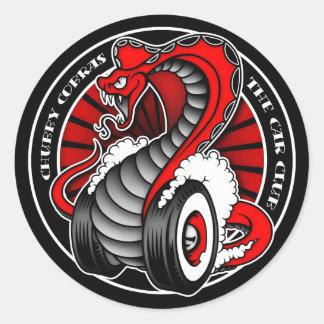 "Circle Red 3"" Classic Round Sticker"