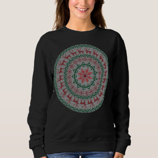 Circle Reindeer Ornaments Ugly Christmas Sweater