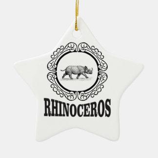 Circle Rhino Ceramic Ornament
