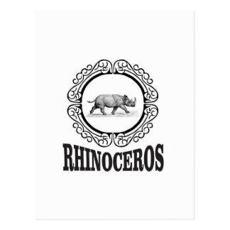 Circle Rhino Postcard