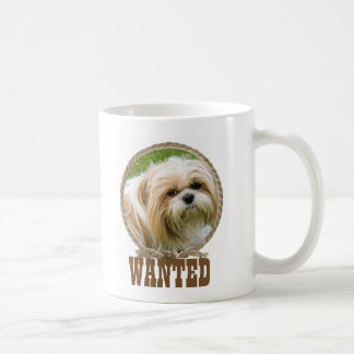 Circle rope western Wanted photo mug