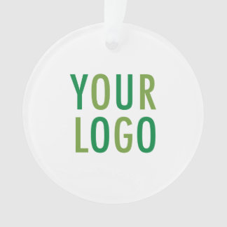 Circle Round Acrylic Ornament Custom Logo Branded