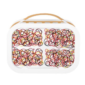 circle scribbles lunch box
