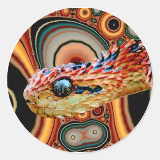 Circle Snake Classic Round Sticker