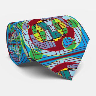 circle square pattern tie