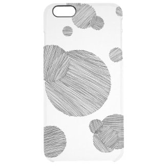 Circle Stripes Clear iPhone 6 Plus Case