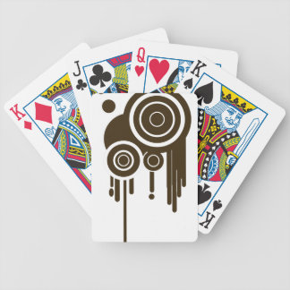 Circle Targets Dripping Bicycle Playing Cards