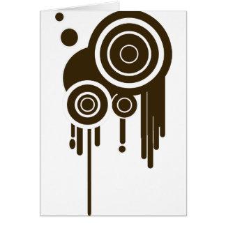 Circle Targets Dripping Card