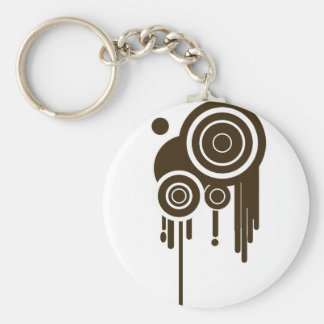 Circle Targets Dripping Keychain