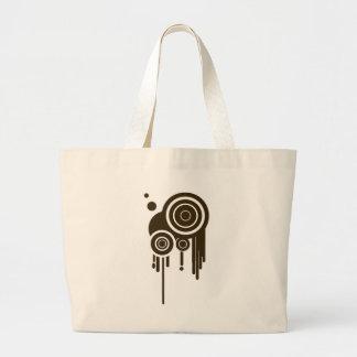 Circle Targets Dripping Large Tote Bag