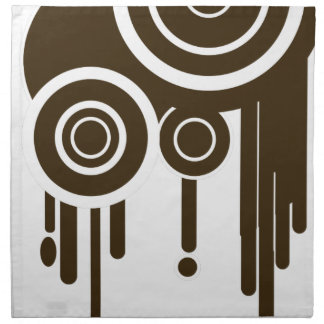 Circle Targets Dripping Napkin
