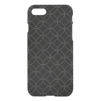 Circle Trans. Seamless Pattern white + your backg. iPhone 7 Case