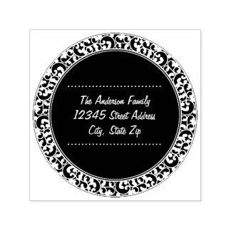 Circle Vintage Black Design - Address Stamp