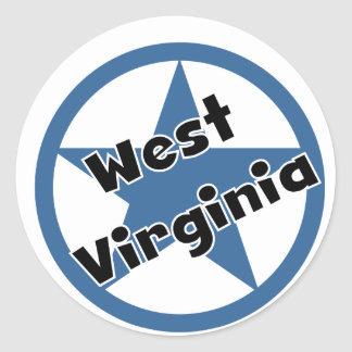 Circle West Virginia Classic Round Sticker