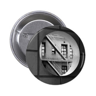 Circle With Fire Escape 2 Inch Round Button
