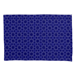 Circled Moments Modern Blue Pillowcase Set