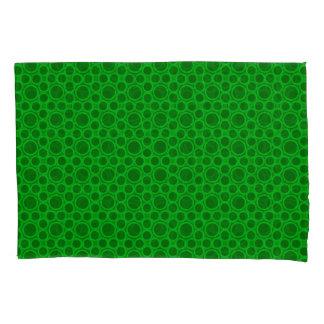 Circled Moments Modern Green Pillowcase Set