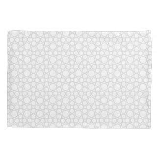 Circled Moments Modern White Pillowcase Set