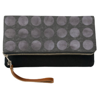 CIRCLES1 BLACK MARBLE & BLACK WATERCOLOR CLUTCH