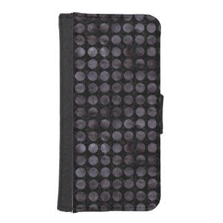CIRCLES1 BLACK MARBLE & BLACK WATERCOLOR iPhone SE/5/5s WALLET CASE
