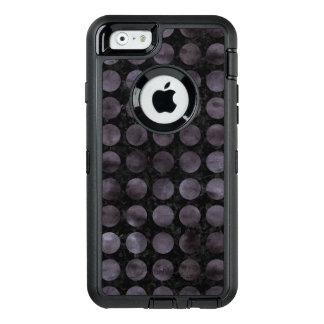 CIRCLES1 BLACK MARBLE & BLACK WATERCOLOR OtterBox DEFENDER iPhone CASE
