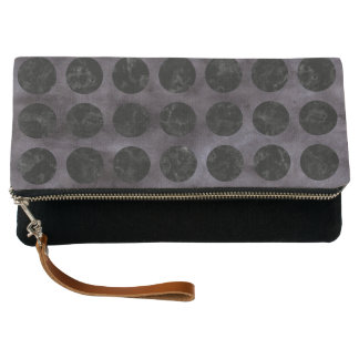 CIRCLES1 BLACK MARBLE & BLACK WATERCOLOR (R) CLUTCH