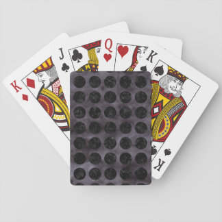 CIRCLES1 BLACK MARBLE & BLACK WATERCOLOR (R) PLAYING CARDS