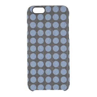 CIRCLES1 BLACK MARBLE & BLUE DENIM CLEAR iPhone 6/6S CASE