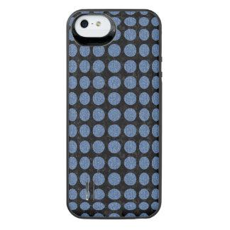 CIRCLES1 BLACK MARBLE & BLUE DENIM iPhone SE/5/5s BATTERY CASE