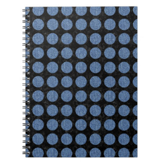 CIRCLES1 BLACK MARBLE & BLUE DENIM NOTEBOOK
